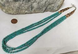 Gougeous three-strands  turquoise heishi necklace23