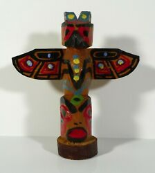 Hand Made Wooden Totem Pole Stan James Nanaimo B.C.