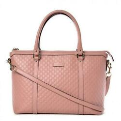 Gucci Women's Light Pink GG Microguccissima Leather Joy Shopping Tote 449647