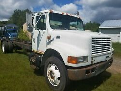99 international 4900 dt 466e cab chassis 25 ft double frame air brakes