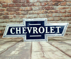 Chevrolet Bowtie Embossed Aluminum Sign