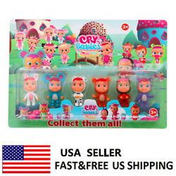 Cry Babies Magic Tears Action Figure Doll Kids Girls Toys Creative Toys 6 PCS