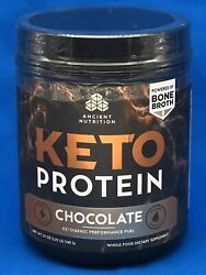 AUTHENTIC ~ Ancient Nutrition 19oz💪Keto Protein😃Chocolate👀