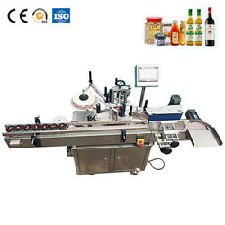 MT-200 Auto Round Bottle Labeling Machine Round Bottle Labeler With Date Print