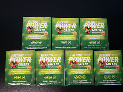 7 Sample Packs of Patriot Power Greens Berry Flavor - 1 Serving Each - New!