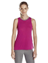 Large 10 12 Spalding Women#x27;s Open Back Drape Active Shell Tank Top Shirt Orchid $17.34