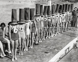 Vintage 1936 FACELESS BATHING SUIT BEAUTY CONTEST Photo Swimsuits Bizarre Odd $7.95