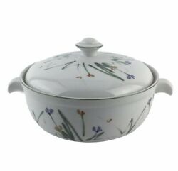 Mikasa Sketch Round Covered Casserole 2.5 Qt Fine China Dinnerware UP002 Floral