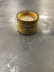 Vintage Smooth-On No. 1 Iron Cement Automotive Tin Can Advertising