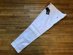 DSQUARED² RUNWAY WHITE PLEATED DRESS CASUAL SIGNATURE PANTS TROUSERS 52 36 SLIM