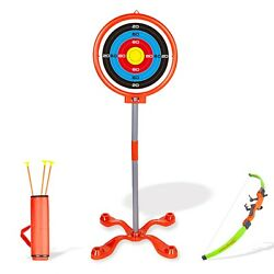 Archery Play Toy Set for Kids with Target Bow and Arrow