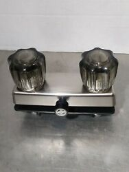 Chrome RV Mobile Home Motor Vehicle Shower Faucet with Smoked Handles Free Ship