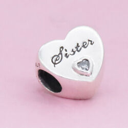 Authentic Pandora Silver 925 ALE Sister's Love Charm #791946
