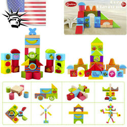 38 Colorful Wooden Puzzle Pieces Standard Educational Toys Preschool Boys Girls