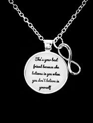Best Friends Necklace She Believes In You Partners In Crime Gift Jewelry