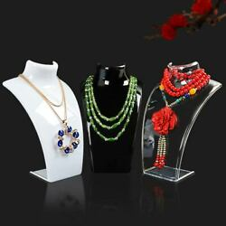 Acrylic Mannequin Necklace Display Shelf Jewelry Pendant Display Stand Holder