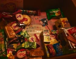 ASIAN SNACK BOX 67 pc JapaneseKorean and Chinese snacks & candy 1 mini drink