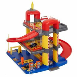 Super Parking Garage Playset Includes 6 Cars Toddlers