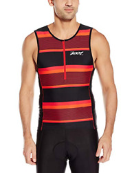 ZOOT - Men's Performance Tri Tank - Race Day Red Stripe - EXTRA LARGE