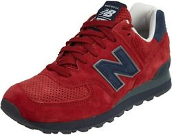 NEW MEN'S NEW BALANCE US574XAD CLASSIC REDNAVY SIZE 9.5 MADE IN USA MSRP$179.99