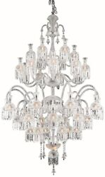 CHANDELIER MAJESTIC TRADITIONAL ANTIQUE LARGE 42-LIGHT CLEAR CRYSTAL CHR