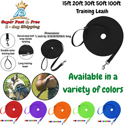Dog Puppy Recall Training Agility Lead Long Leash 15ft 20ft 30ft 50ft 100ft New $15.54
