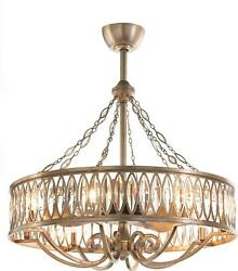 PENDANT JOHN-RICHARD 8-LIGHT FACETED MARQUISE CRYSTAL NEW REMOTE CONTROL