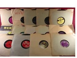 Batch Lot Of 14 Playable 10 Inch 78rpm Record Discs - Mostly 1940s Jazz