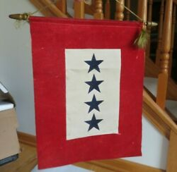 U.S. Military Banner Flag 4 STAR Serving Our Country Home Front FOUR Sons (S44)