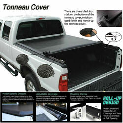 Black Vinyl Tonneau Cover For Toyota Tacoma Crew Cab 06-19 Pickup Truck Bed 5FT