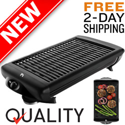 Smokeless Indoor Electric Grill POWER 1200 W Non Stick BBQ Temperature Control $48.83