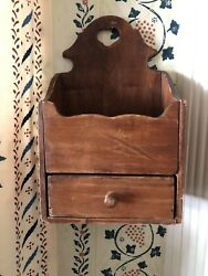 Antique Vintage Wall Box With Heart Cutout!