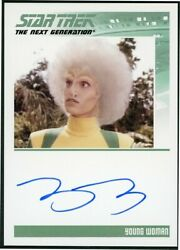 2013 Star Trek TNG Heroes & Villains Tracey D' Arcy (Young Woman) Autograph