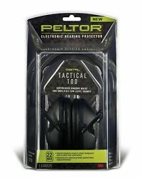 Peltor Tactical 100 Earmuffs Electronic 22db (NRR) Hearing Protector 3M TAC100 *