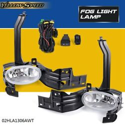 Bumper Fog Lights Fit For 2008 2010 Honda Accord 2Dr Coupe W Clear LensSwitch