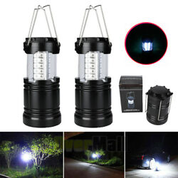 2 Pack Portable Outdoor Collapsible 30 LED Camping Lantern Bright Tent Lamp USA $20.99