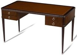 SCARBOROUGH HOUSE WRITING DESK ROSEWOOD SILVER TOOLED SADDLE LEATHER TOP  $3,819.00