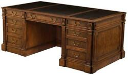 WRITING DESK MYRTLE BURL SCARBOROUGH HOUSE HAND TOOL LEATHER BRASS FILE  $9,339.00