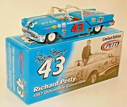 RICHARD PETTY 124  #43 1957 OLDS CONVERTIBLE DIECAST - THE KING'S 1ST RACE CAR