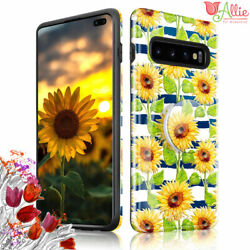 For Samsung Galaxy S10 Plus S10e S9 SUNFLOWER Stick Stand Case Cover For Girls $4.97