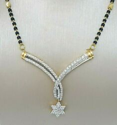 18Carat Yellow Gold Diamond Mangalsutra Chain & Pendant 20'' 1.27 carat F-VVS