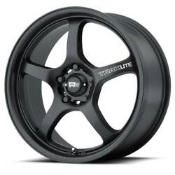 17x8 MOTEGI MR131 5x112 ET40 Satin Black Rims (Set of 4)