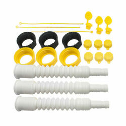 3pk Gas Spout Replacement Replace Old Gas Can Fill Kit Fuel Diesel Water white