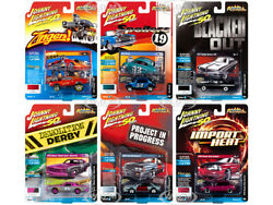 STREET FREAKS 2019 RELEASE 3 SET B OF 6 CARS 164 BY JOHNNY LIGHTNING JLSF014 B