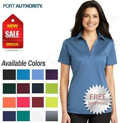 Port Authority Womens Dri Fit SIlk Touch Performance Polo Golf Shirt M L540 $12.93