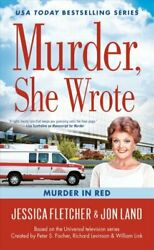 Murder She Wrote Murder In Red by Jessica Fletcher 9780451489357  Brand New