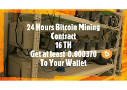 Get at least 0.00037 BTC . Bitcoin Mining Contract  $5.39
