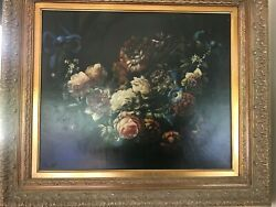 Antique Victorian Oil Painting Flowers signed $9000.00