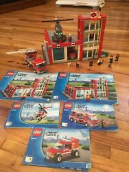 LEGO City Fire Station  Set #60004 Complete with MInifigures and Instructions