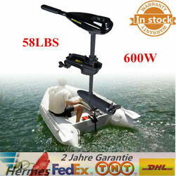 58LBS Electric Boat OUTBOARD Trolling Motor Engine Brush Inflatable 12V F5-R2